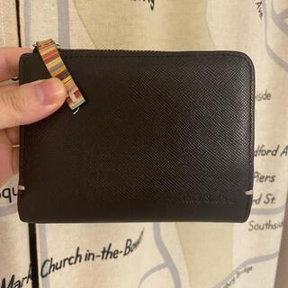 ポールスミス(Paul Smith)のポールスミス ジップストローグレイン 2つ折り財布 ブラウン(折り財布)