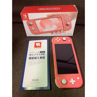 Nintendo Switch - Nintendo switchLite コーラルピンク 保証付き