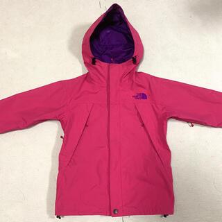 THE NORTH FACE - 配色が可愛い ノースフェイス スクープジャケット ピンク パープル 120