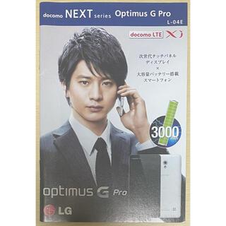エヌティティドコモ(NTTdocomo)の向井理 ドコモ 小冊子 L-04E(男性タレント)