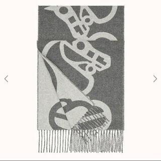 Hermes - 【新品未使用】エルメス マフラー バックル&カマイユ カシミヤグレー