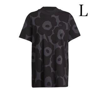 アディダス✖️マリメッコ コラボ 総柄Tシャツ L