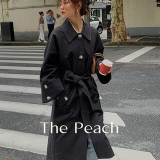 """アメリヴィンテージ(Ameri VINTAGE)の""""THE PEACH"""" コットントレンチコート ベルスリーブ フレア ロング(トレンチコート)"""