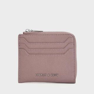 Charles and Keith - クラシックジッパーポーチ Classic Zipper Pouch(Mauve)