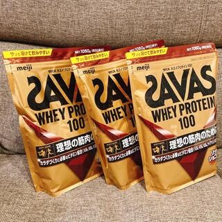 SAVAS - ザバス ホエイプロテイン100 リッチショコラ味 1050g 3個
