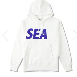 新品 希少 windandsea SEAロゴ パーカー 白 L