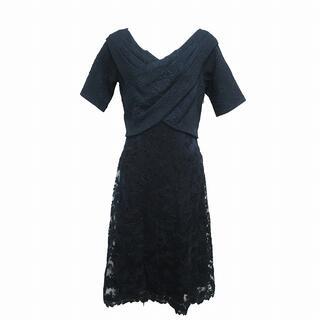 タダシショウジ(TADASHI SHOJI)のタダシショージ タグ付 ワンピース ドレス 半袖 レース ひざ丈 花柄 刺繍 6(ひざ丈ワンピース)