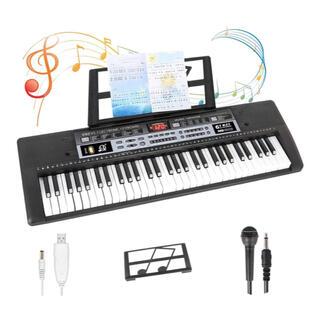 電子キーボード 61鍵盤 ブラック 【新品、送料無料】(キーボード/シンセサイザー)
