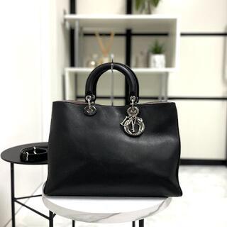 Christian Dior - DIOR クリスチャンディオール ディオリッシモ 2wayバッグ ブラック
