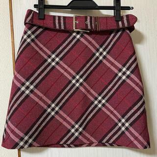 バーバリーブルーレーベル(BURBERRY BLUE LABEL)の❤️10/20までお値下げ❤️バーバリーブルーレーベル スカート チェック新品(ミニスカート)