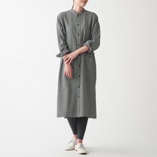 MUJI (無印良品) - ☆新品☆ 無印良品 両面起毛フランネル スタンドカラーロングドレスシャツ