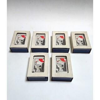 昭和レトロ 古い 花札トランプ 6個 当時物