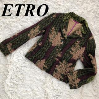 ETRO - ETRO エトロ ウールテーラードジャケット 44
