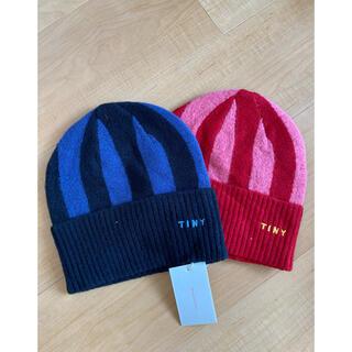 コドモビームス(こども ビームス)のtiny cotton knit cap RED(帽子)