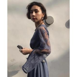 アメリヴィンテージ(Ameri VINTAGE)のameri LACE SLEEVE REFINED DRESS (ロングドレス)
