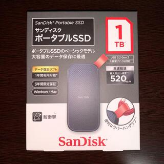 サンディスク(SanDisk)のSanDisk ポータブルSSD 1TB SDSSDE30-1T00-J25(1(PC周辺機器)