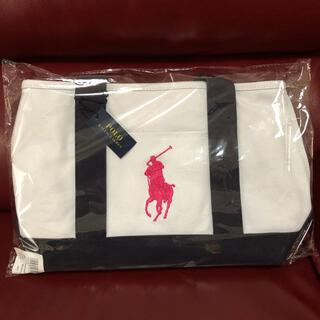 Ralph Lauren - タグ付き未使用 ポロラルフローレン キャンバストートバッグ ピンク MDサイズ
