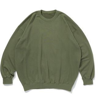 コモリ(COMOLI)の久米繊維 ビッグスウェットシャツ  抹茶グリーン(スウェット)