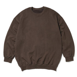コモリ(COMOLI)の久米繊維 ビッグスウェットシャツ  ブラウン(スウェット)