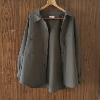 サマンサモスモス(SM2)のSamantha Mos2 blue CPOシャツジャケット F カーキ(その他)