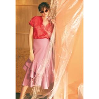 ミラオーウェン(Mila Owen)のMila Owen マーメイドスカート ピンク(ひざ丈スカート)