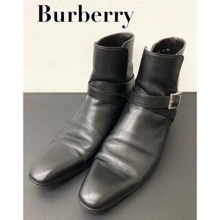 BURBERRY - 【美品】バーバリー Burberry ショートブーツ サイドゴアブーツ ブラック