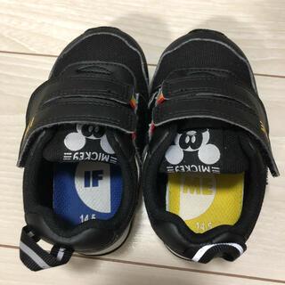 イフミー ミッキー 14.5 スニーカー 黒