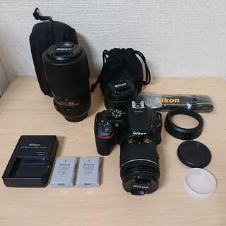 Nikon - Nikon D5600 本体 標準ズームレンズ 望遠レンズ 単焦点レンズ カメラ