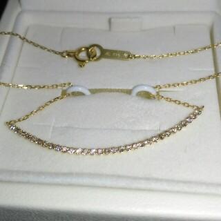 4℃ - 4℃ ダイヤモンド K18 ネックレス 横並び スマイル リュール ネックレス