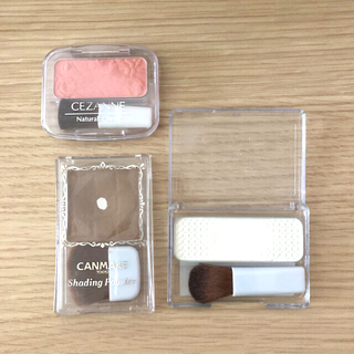 CANMAKE - 即日配送★セザンヌ キャンメイクチーク・ハイライト・シェーディングパウダーセット