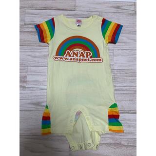 アナップキッズ(ANAP Kids)のANAP 半袖 ロンパース 80(ロンパース)
