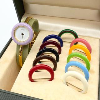 Gucci - 良品☆ 新品電池 GUCCI  チェンジベゼル レディース腕時計
