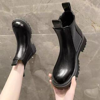 サイドゴアブーツ  ショートブーツ ブーツ  24cm  ブラック