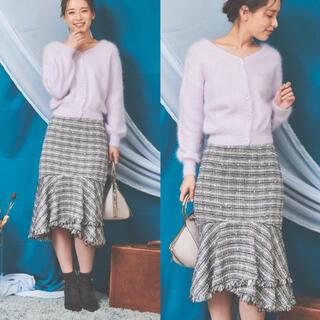 ノエラ(Noela)の【新品・タグ付き】ノエラ◆ツィードマーメイドスカート Sサイズ(ひざ丈スカート)