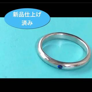 Tiffany & Co. - 美品 新品仕上げ✨ティファニーサファイアリング SV925