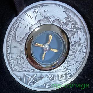 英国ーオーストラリア初飛行100周年記念 2オンス銀貨アンティーク