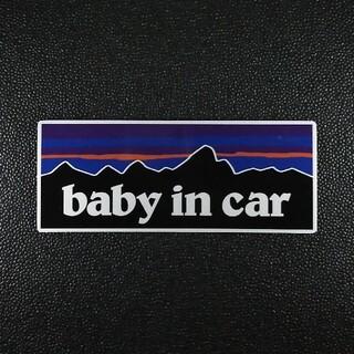BABY IN CARマグネットステッカー パタゴニア チャイルドシート