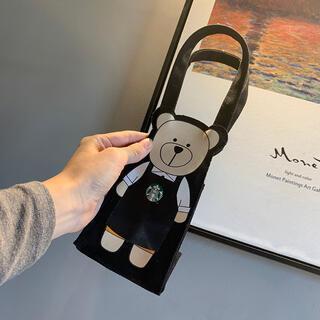 スターバックスコーヒー(Starbucks Coffee)の【スターバックス台湾限定】日本未発売 ベアリスタ ドリンクバック ブラック 一点(トートバッグ)