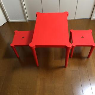 IKEA イケア キッズ テーブル 椅子 スツール セット