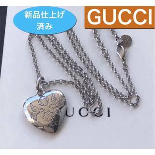 Gucci - 美品 新品仕上げ✨GUCCIのネックレス ブラインド フォーラブペンダント