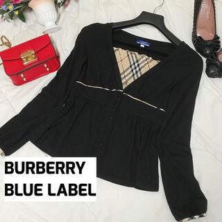 BURBERRY BLUE LABEL バーバリー カーディガン ブラウス