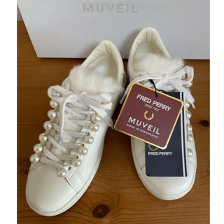 MUVEIL WORK - 限定☆新品☆FRED PERRY×MUVEIL  コラボ レザースニーカー 37