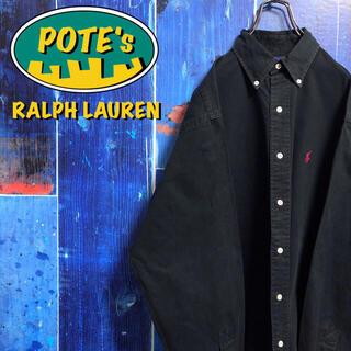 Ralph Lauren - 【ラルフローレン】ワンポイント刺繍ロゴボタンダウンシャツ 90s