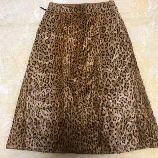 ビューティアンドユースユナイテッドアローズ(BEAUTY&YOUTH UNITED ARROWS)のユナイテッドアローズ豹柄スカート(ひざ丈スカート)