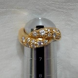 タサキ(TASAKI)のタサキ ダイヤモンドリング YG #6(リング(指輪))