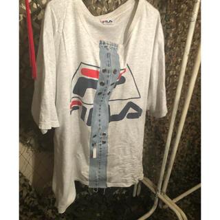 フィラ(FILA)のFILA リメイク Tシャツ ミニワンピース フィラ(Tシャツ(半袖/袖なし))