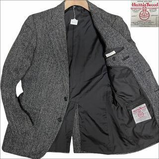 ハリスツイード(Harris Tweed)のJ6057 美品 ハリスツイード ヘリンボーン ツイードジャケット グレーAB6(テーラードジャケット)