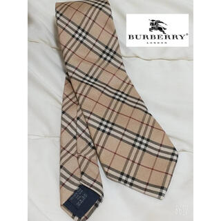 BURBERRY - BURBERRY London バーバリー ノバチェック ネクタイ シルク