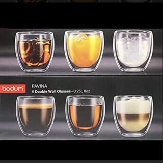 bodum - ポダム ダブルウォールグラス 250ml 6個入