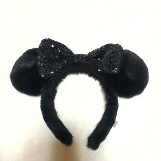 Disney - ディズニー カチューシャ ブラック スパンコール